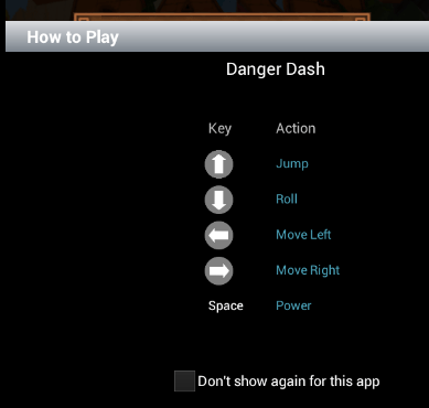 How to play-Danger Dash on PC