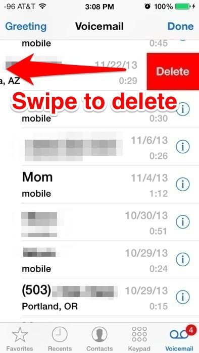 how to delete virgin voicemail