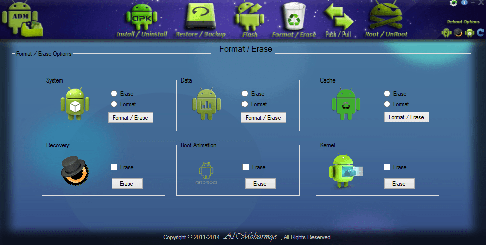 how to send commands to android on pc