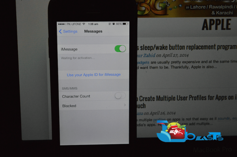 """How To Fix iMessage """"Waiting for Activation"""" Error on iOS 6 and iOS 7"""