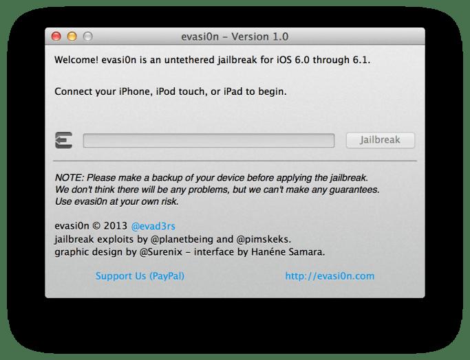 Jailbreak iOS 6 - iOS 6.1.6