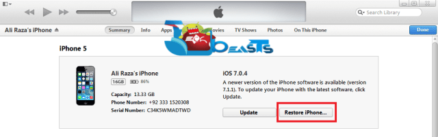 restore iphone,ipad and ipodtouch