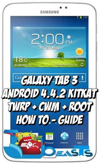 Install CWM/TWRP Recovery and Root Galaxy Tab 3 SM-T211