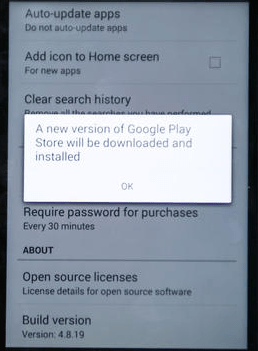 how to update google play store manually