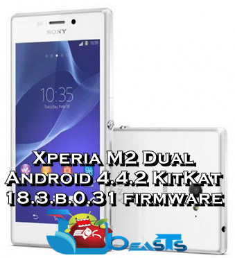 Update Sony Xperia M2 Dual D2302 To Android 4 4 2 KitKat 18 3 B 0 31