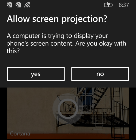 screen mirror windows phone 8.1 on pc