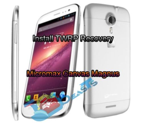 Install TWRP Recovery on Micromax Canvas Magnus