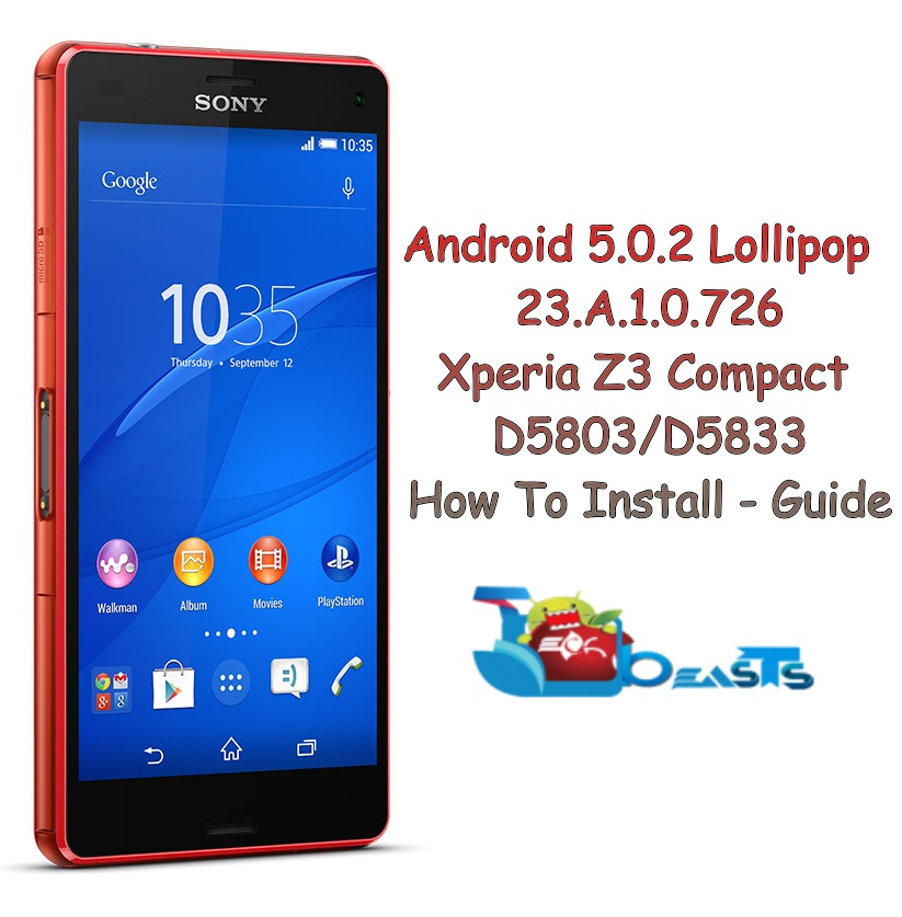Update Xperia Z3 Compact D5803/D5833 To Official Android 5 0