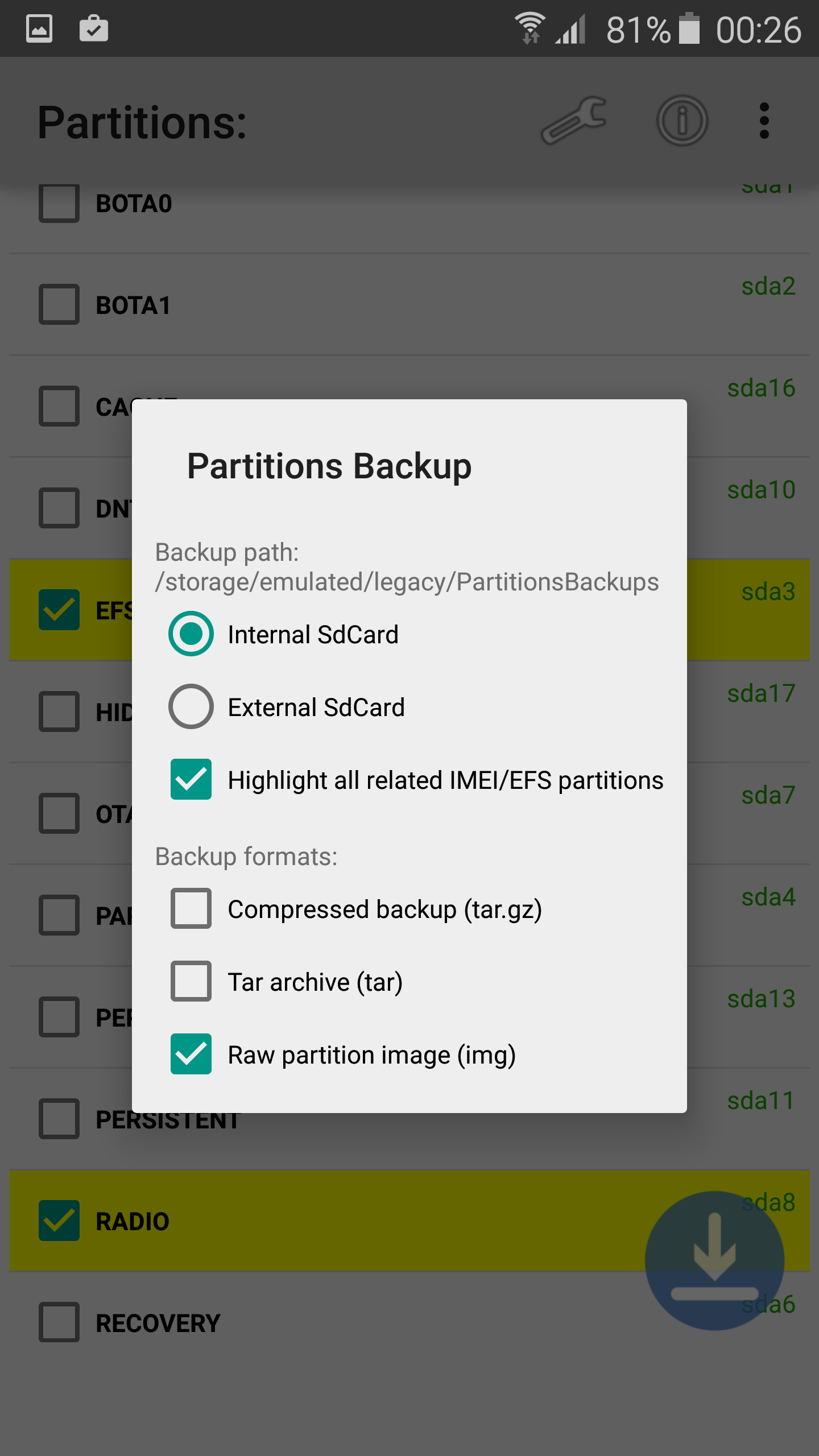 Backup/Restore EFS/IMEI on Samsung Galaxy S6 & S6 Edge [how to]
