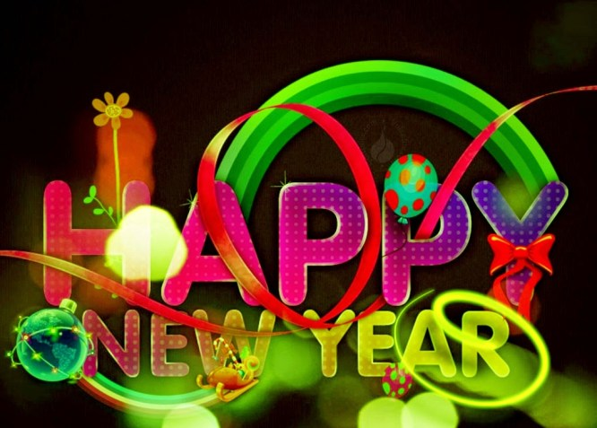 Happy New Year Animated 3D Wallpaper