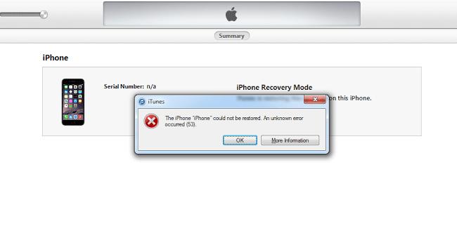 fix iTunes error 53
