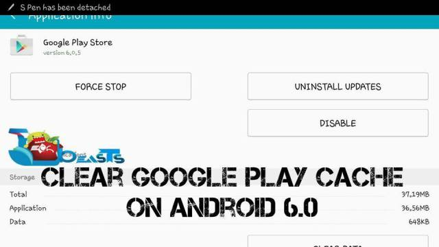 Clear The Google Play Store Cache In Android 6.0