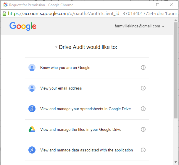 google drive access