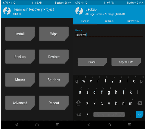 TWRP Android One