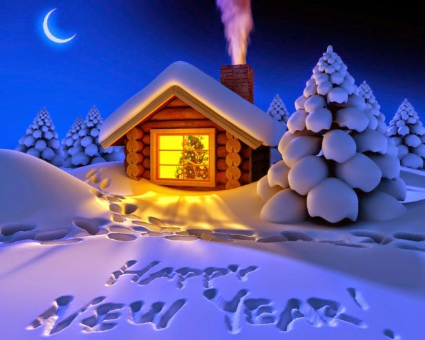 happy new year 2018 snow fall night hd wallpaper