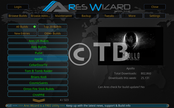 Apollo Kodi Build