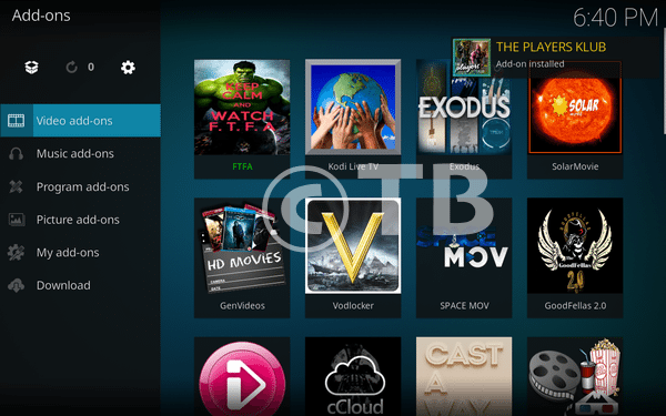 Install Players Klub Add-on Kodi 17 3 Krypton