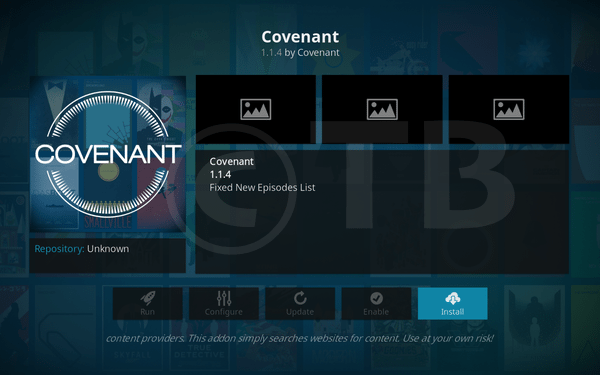 Covenant Kodi Add-on Repo