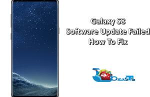 Galaxy S8 Software Update Failed Error