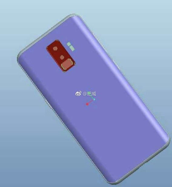 Galaxy S9 CAD constructed images display a vertical camera, unlike the Note 8