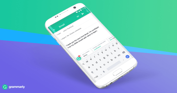 Grammarly is available for your iOS and Android devices