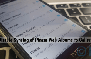 Disable Syncing of Picasa Web Albums to Gallery App