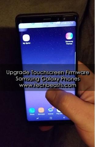 Upgrade Touchscreen Firmware of Samsung Galaxy