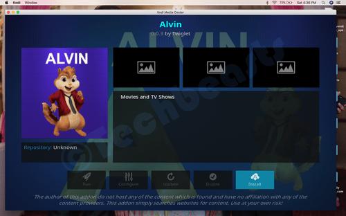 Install Alvin Kodi Add-on