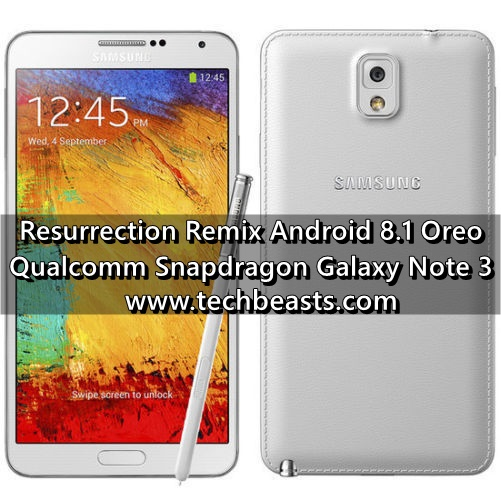 Install Resurrection Remix Android 8 1 Oreo on Galaxy Note 3