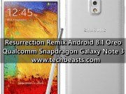 Install Resurrection Remix Android 8.1 Oreo on Galaxy Note 3
