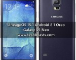 Update Galaxy S5 Neo to Android 8.1 Oreo