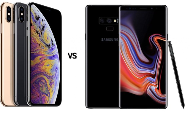 note 8 vs iphone xs max