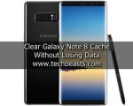 clear Galaxy Note 8 Cache without losing Data