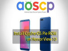 CypherOS Pie ROM on Honor View 10