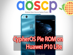 CypherOS Pie ROM on Huawei P10 Lite