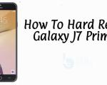 Hard Reset Galaxy J7 Prime