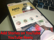Add Stories on Youtube