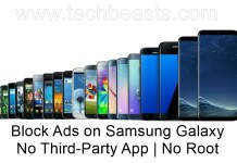 Block Ads on Samsung Galaxy without third-party applications