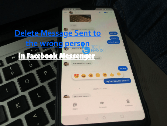 Delete Message Sent to the wrong person in Facebook Messenger