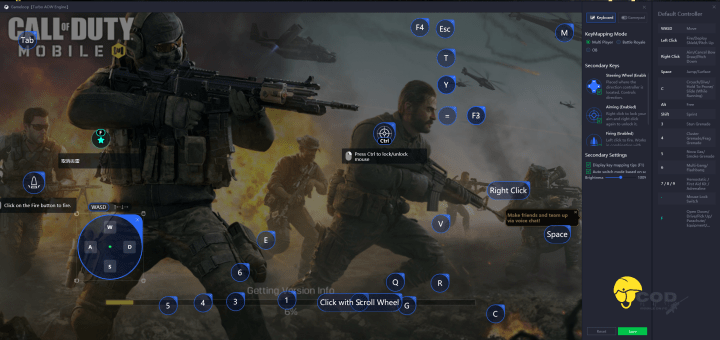 Call of Duty Mobile PC Key Mapping
