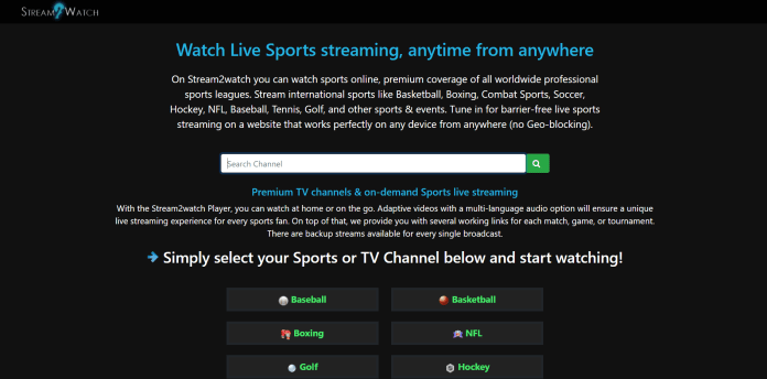 Stream2Watch (Free Sports Streaming Sites)