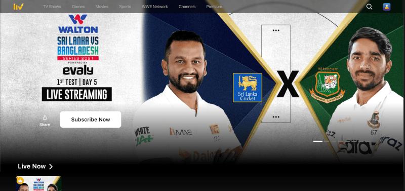 Sony Liv Sports (Free Sports Streaming Sites)