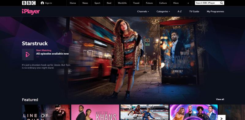 BBC iPlayer (Free Sports Streaming Sites)