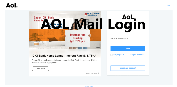 AOL Mail Login, www.aol.com