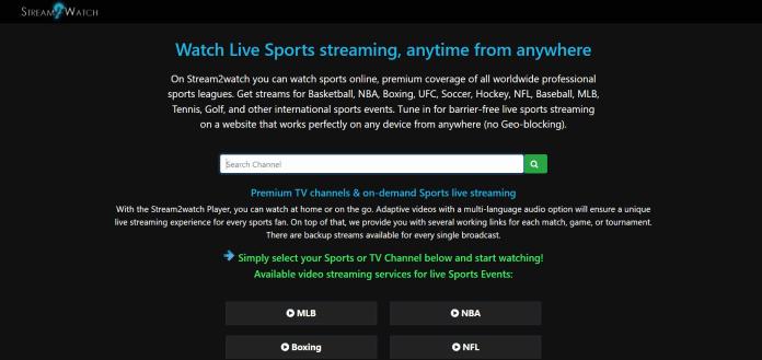 Stream2watch (Alternatives of SportSurge)