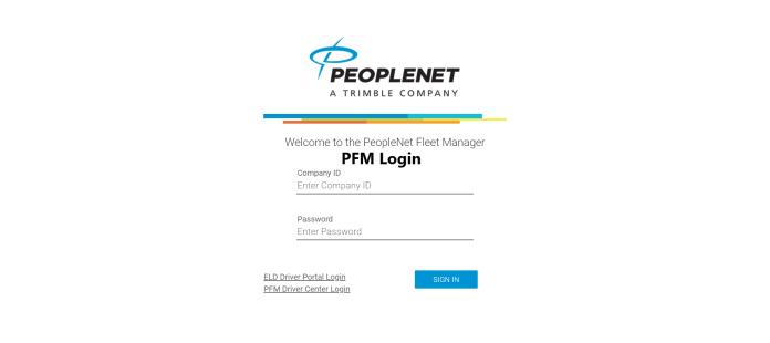 PFM Login