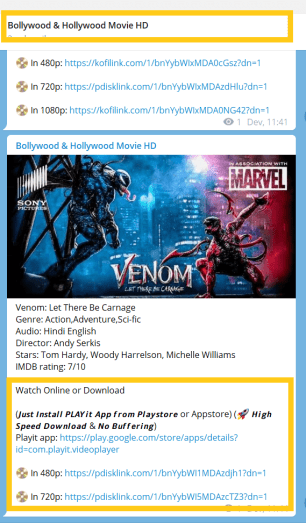 Venom Let There Be Carnage Telegram Channel Link