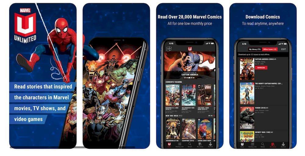 10款免費好用的漫畫APP推薦 - Marvel Unlimited app