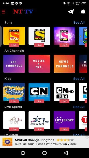 Download nt tv apk for android