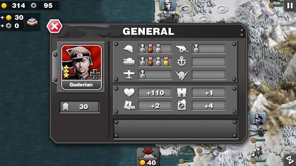 The glory of the Generals Mod APK unlimited medals
